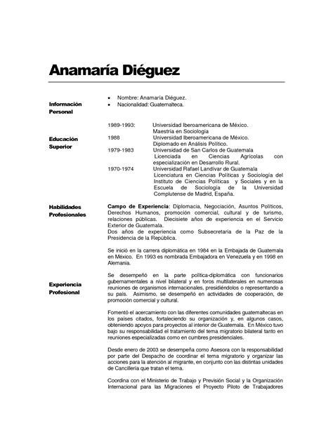 Formato De Resume by Curriculum Vitae Formato Word Para Llenar Curriculum Design Bild