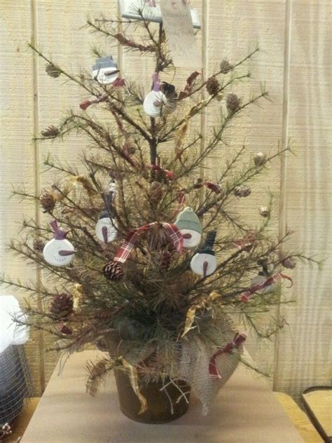 snowman primitive tree christmas winter decor