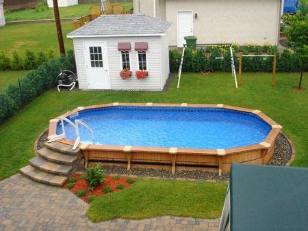 images  pool ideas partially buried  deck