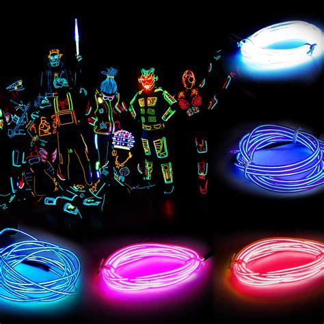 el wire rope flexible neon light glow party dance outdoor
