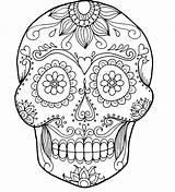 Skull Coloring Pages Bones Crossbones Adults Pirate Rose Printable Skulls Roses Getcolorings Sugar Getdrawings Colorings sketch template