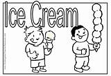Ice Cream Coloring Summer Pages Parlor Eating Melting Cone Drawing Icecream Getdrawings Popular Coloringtop sketch template