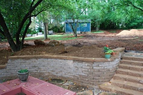 landscaping ideas retaining wall hillside 17 best images about home backyard landscaping on