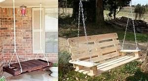 Balancelle De Jardin En Bois : balancelle en bois de palette creation palette ~ Teatrodelosmanantiales.com Idées de Décoration