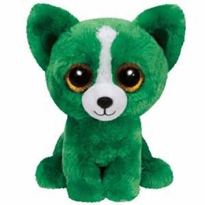 "Ty Inc. Ty Inc Beanie Boo Plush Stuffed Animal Dill the Green Dog 6"""