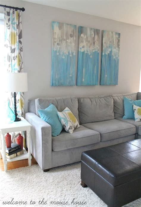 Grey And Turquoise Living Room by Best 25 Turquoise Accent Walls Ideas On