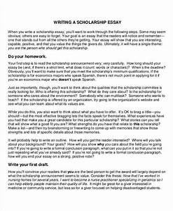 sample essay for scholarship letter examples