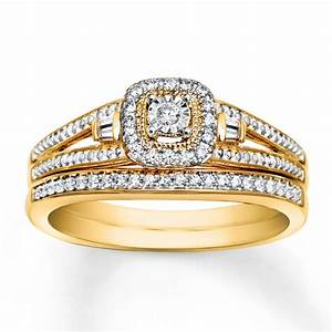 yellow gold bridal sets kays wedding ring sets With wedding rings sets gold