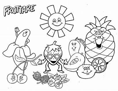 Fruit Coloring Pages Salad Fun Worksheet Activities