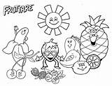 Fruit Coloring Salad Activities Drawing Worksheet Fruits Printable Funny Lovely Getdrawings Happy Living sketch template