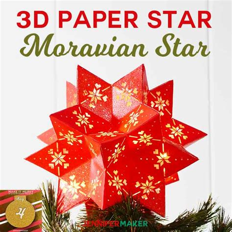This project is compatible with any cutting machine and software combination that allows you to import svg files, such as cricut design space, sure cuts a. DIY 3D Paper Star: Moravian 20-Point Tree Topper ...