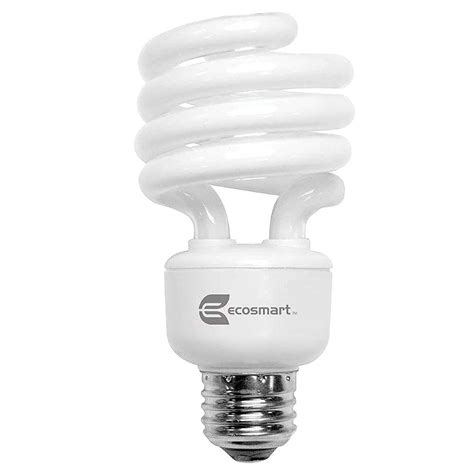 ecosmart light bulbs ecosmart 100w equivalent soft white spiral cfl light bulb