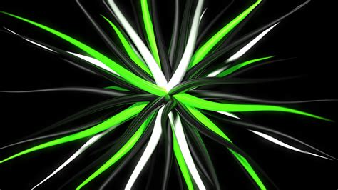 Black White And Green by Abstract Digital Black Background Green 3d