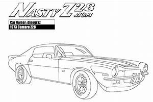 Super Car Chevrolet Camaro Coloring Page For Kids ...