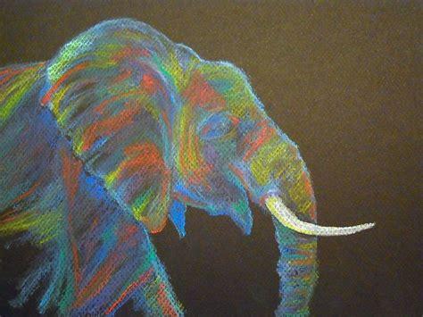 elephant   soft pastels african elephant