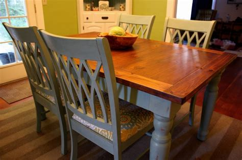 blue farmhouse dining table  chairs  ive