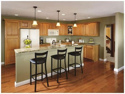 Hickory Kitchen Cabinets   kitchen   Pinterest   Colors