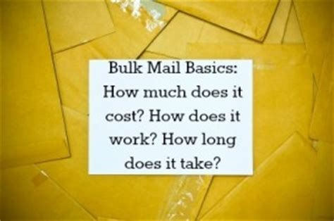 how much does it cost to mail a letter bulk mail what is it how does it work how much does it 11401