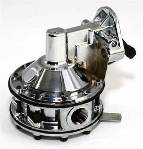 Sb Chevy Chrome Mechanical Fuel Pump High Volume 350 400
