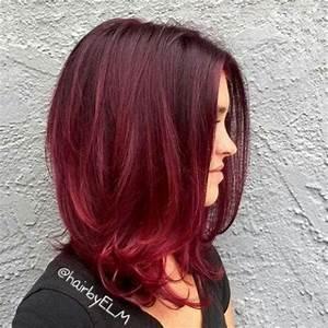 Balayage Braun Rot : le ombr hair rouge proche du tie and dye 33 mod les de coloration ombr hair rouge cerise ~ Frokenaadalensverden.com Haus und Dekorationen