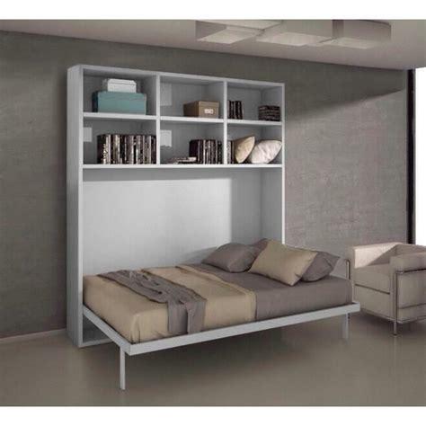 ensemble ordinateur de bureau pas cher lit escamotable 140x200 chêne clair etagères achat
