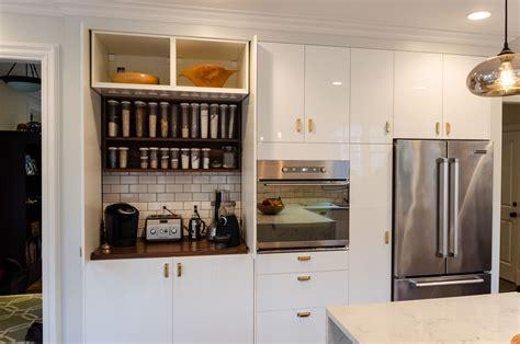 Garage Cabinets In Kitchen by Ikea Hack Appliance Garage With Third Pocket Door