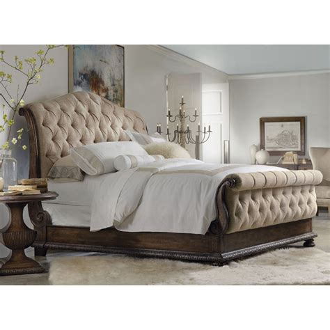 Hooker Furniture Rhapsody Tufted Upholstered Sleigh Bed