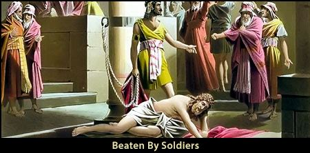 jesus  beaten  whipped  soldiers neverthirsty