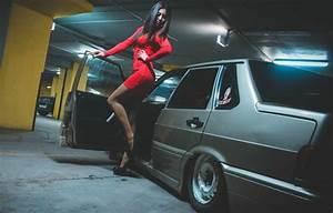 Обои машина, девушка, Авто, ножки, Lada, auto, Лада, ВАЗ