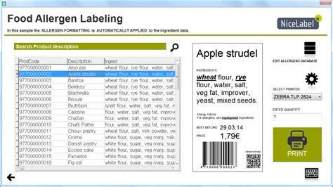 food allergen labelling eu  highlighting