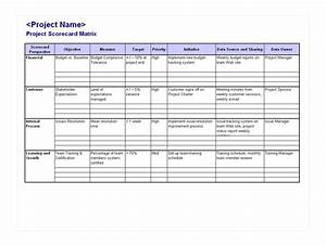 beautiful project scorecard template photos resume ideas With project management scorecard template