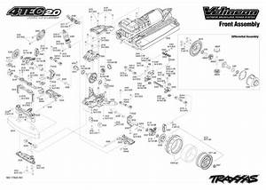 Exploded View  Traxxas 4-tec 2 0 Vxl