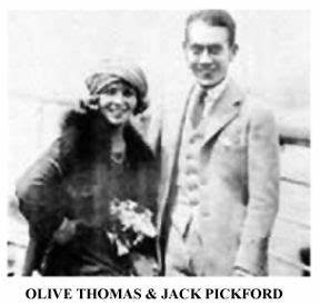 jack pickford & olive thomas - His 1st, her 2nd   Married ...