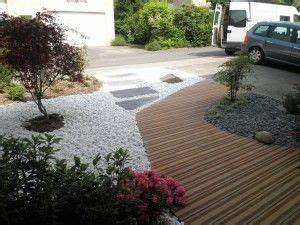 jardin mineral compose d39une allee en bois exotique et de With lovely amenagement terrasse et jardin 1 paysagiste en ligne creation jardins et terrasses