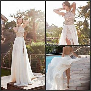 2016 designer new fashion sexy halter high neck lace With designer beach wedding dresses