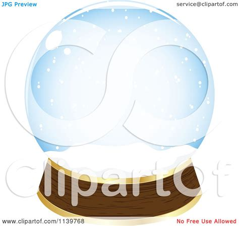 free royalty free clipart clipart of an empty snow globe royalty free vector