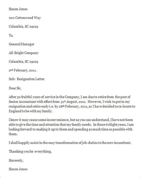 resignation letters exle part time resignation