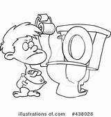 Potty Training Clipart Pages Coloring Toilet Boy Illustration Printable Cartoon Royalty Toonaday Sheets Template Sketch Print Getcolorings sketch template