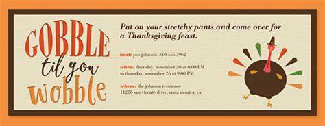 thanksgiving dinner invitations evitecom