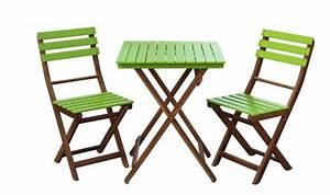 Salon De Jardin Pliant : salon de jardin pliant en bois 2 places table 2 chaises ~ Dailycaller-alerts.com Idées de Décoration