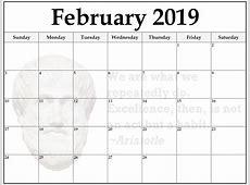 February 2019 Islamic Calendar February 2019 Calendar
