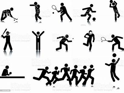 Stick Sports Figures Vector Adult Sport Illustration