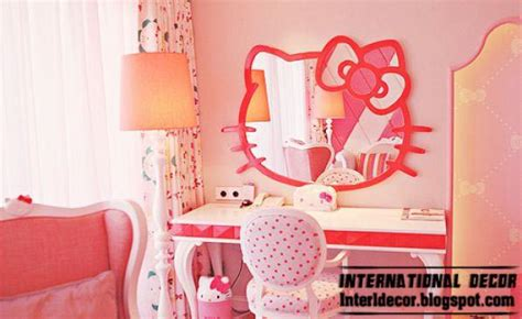 kitty girls bedroom themes designs ideas