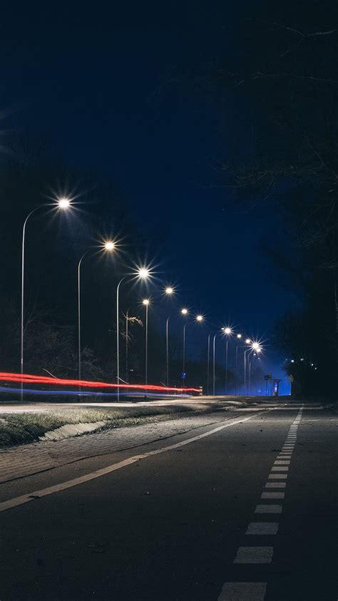 papersco iphone wallpaper mx street lights dark