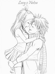 Easy Cute Anime Couple Drawings In Pencil - Great Drawing