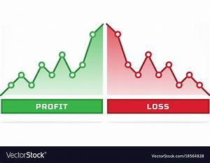 Financial Profit And Loss Graph Charts Royalty Free Vector