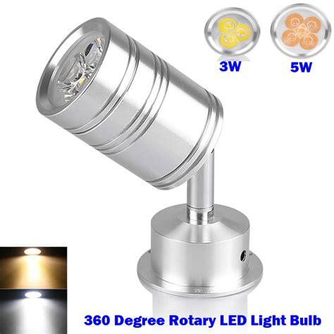free shipping 360 degree rotary led light bulb spotlight