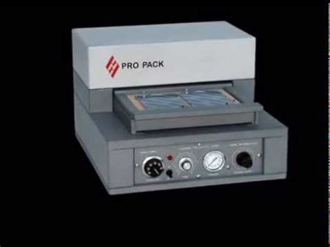 pro pack bx blister tray packaging sealing machine youtube
