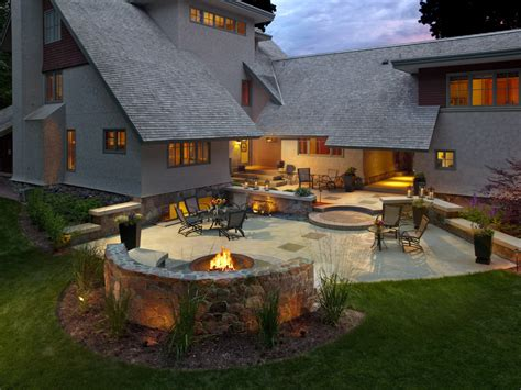 outdoor patios with pits backyard design ideas with fire pit photo 5 design your home