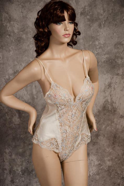 vintage teddy s secret satin lace ivory teddy size small bridal honeymoon